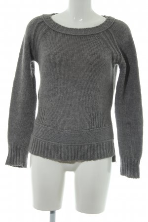 Closed Wollpullover grau Lochstrickmuster Casual-Look