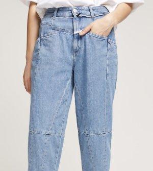 Closed Jeans a vita alta azzurro-blu fiordaliso Cotone