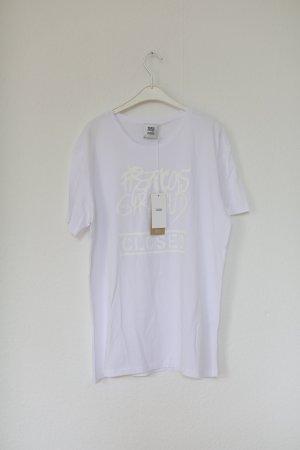 Closed x Francois Girbaud Shirt Weiß Print Vintage Gr. S Neu mit Etikett