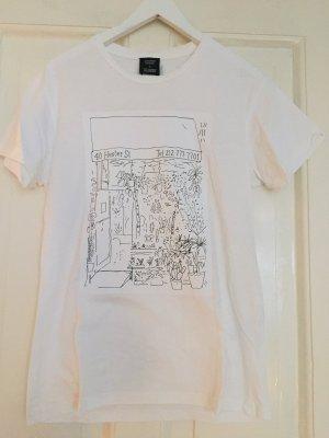 CLOSED x Stefan Marx T-Shirt weiss - S - WIE NEU!