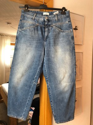Closed Hoge taille jeans blauw-staalblauw