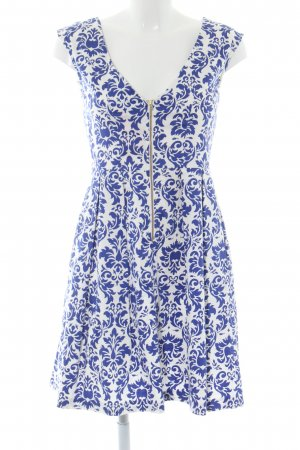 Closet A Line Dress white-blue abstract pattern business style