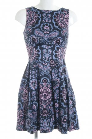 Closet A-Linien Kleid abstrakter Druck 70ies-Stil