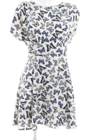 Closet A-Linien Kleid Animalmuster Romantik-Look