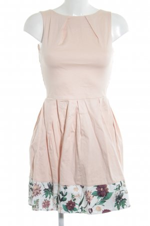 Closet A-Linien Kleid apricot Blumenmuster Country-Look