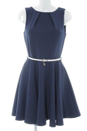 Closet A-Linien Kleid goldfarben-dunkelblau Business-Look