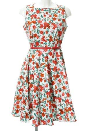 Closet A-Linien Kleid himmelblau-rot Blumenmuster Casual-Look