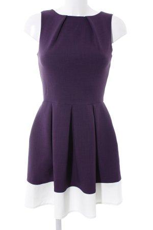 Closet A-Linien Kleid lila-weiß meliert Romantik-Look