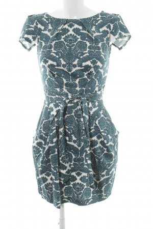 Closet A-Linien Kleid petrol-wollweiß Allover-Druck Elegant