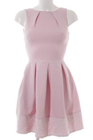 Closet A-Linien Kleid rosa-weiß Romantik-Look