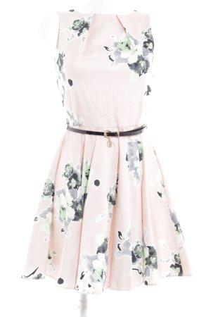 Closet A-Linien Kleid rosé-blassgrün florales Muster Casual-Look