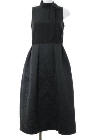 Closet A-Linien Kleid schwarz abstraktes Muster Elegant