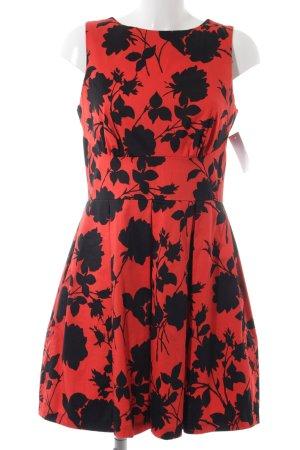 Closet A-Linien Kleid schwarz-rot Blumenmuster Elegant