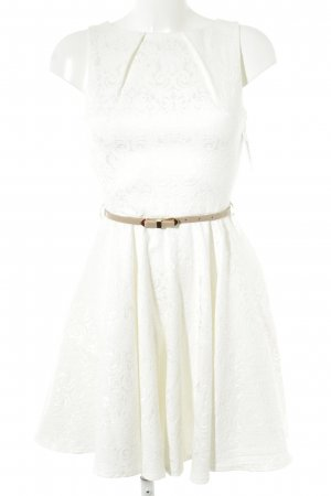 Closet A-Linien Kleid weiß-beige Casual-Look