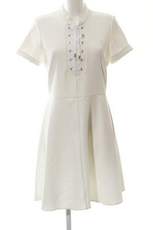 Closet A-Linien Kleid wollweiß-goldfarben extravaganter Stil