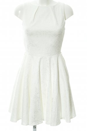 Closet A-Linien Kleid wollweiß Ornamentenmuster Elegant