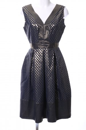 Closet Evening Dress gold-colored-blue spot pattern elegant