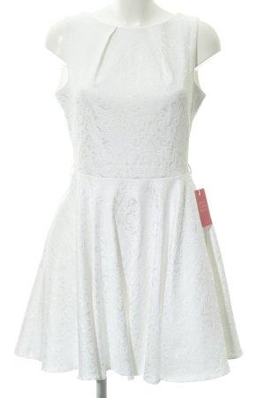 Closet Abendkleid weiß florales Muster Romantik-Look