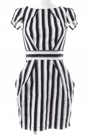 Closet Balloon Dress black-white striped pattern casual look