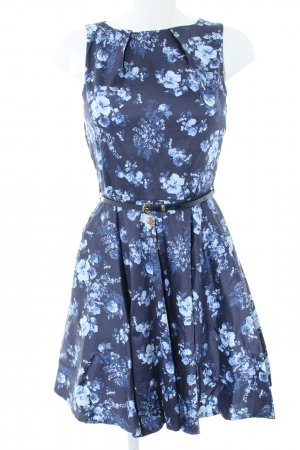Closet Cocktail Dress blue flower pattern elegant
