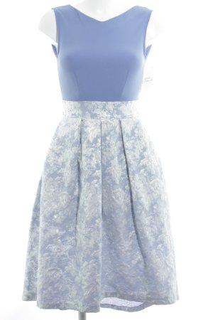 Closet Cocktailkleid kornblumenblau-weiß florales Muster Elegant