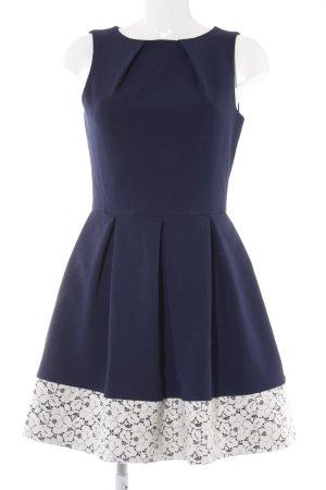 Closet Cocktailkleid weiß-dunkelblau Elegant