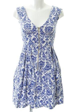 Closet Etuikleid weiß-blau florales Muster Elegant