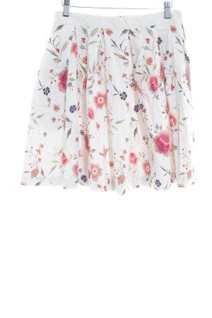 Closet Plaid Skirt flower pattern elegant