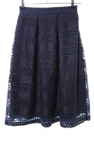 Closet Flared Skirt blue spot pattern business style