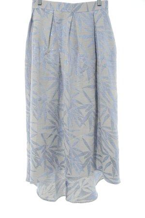 Closet Glockenrock creme-blauviolett florales Muster Elegant