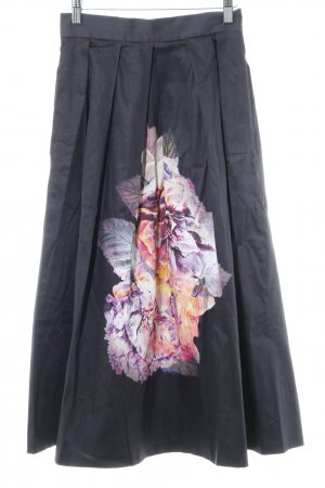 Closet Klokrok donkerblauw prints met een thema elegant