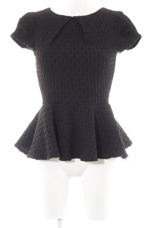 Closet Kurzarm-Bluse schwarz Elegant
