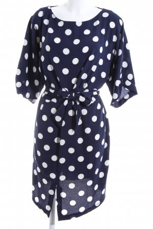 Closet Shortsleeve Dress blue-white spot pattern business style