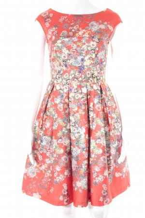 Closet Kurzarmkleid Blumenmuster Romantik-Look