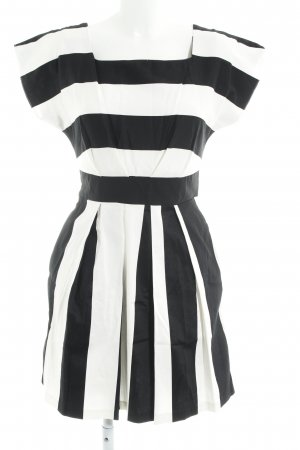 Closet Kurzarmkleid schwarz-weiß Streifenmuster Casual-Look