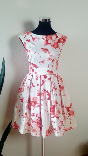 Closet Jersey Dress white-raspberry-red