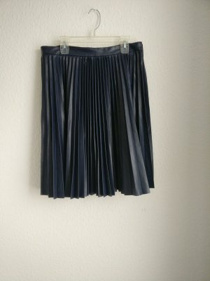 Closet Midi Rock Falten matt blau 38