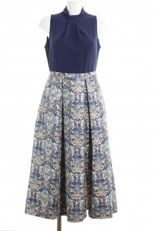 Closet Midi Dress abstract pattern 2-in-1 look