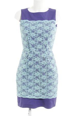 Closet Minikleid lila-türkis Spitzen-Optik