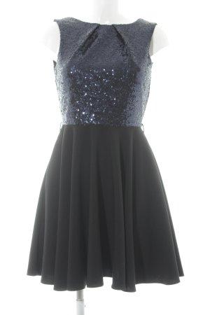 Closet Pailettenkleid schwarz-dunkelblau Elegant