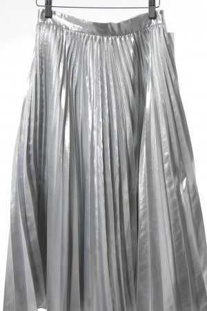 Closet Pleated Skirt silver-colored extravagant style
