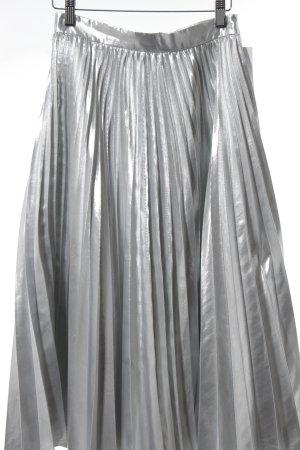 Closet Plisseerock silberfarben extravaganter Stil