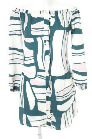 Closet schulterfreies Kleid abstraktes Muster 70ies-Stil