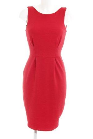 Closet Vestido elástico rojo ladrillo look casual