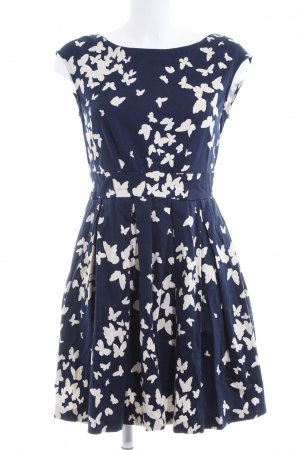Closet Pinafore dress blue-white allover print casual look