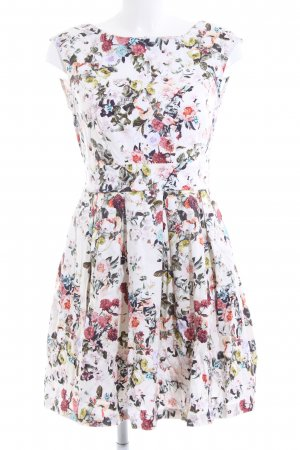 Closet Pinafore dress white-red flower pattern casual look