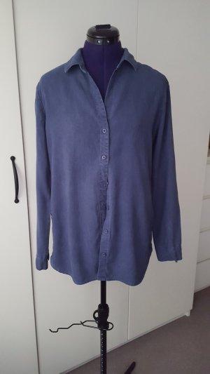 Chemise à manches longues bleu lyocell