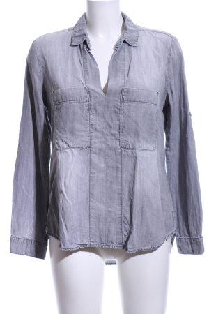 cloth & stone Jeansbluse hellgrau Casual-Look