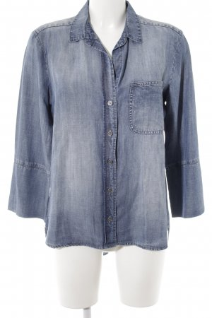 cloth & stone Jeans blouse staalblauw casual uitstraling