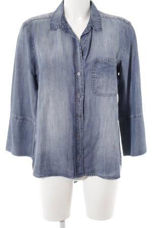 cloth & stone Denim Blouse steel blue casual look